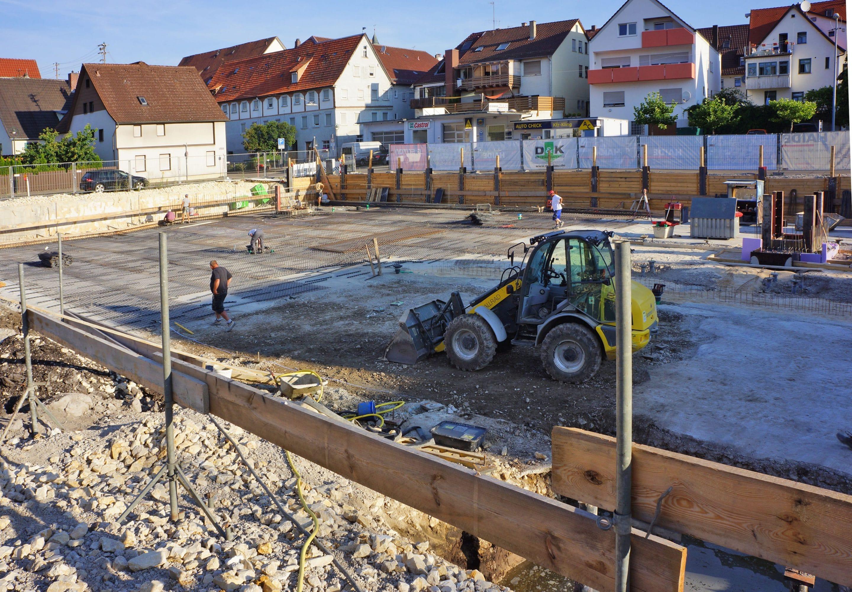 Die Bauarbeiten an der Lederstraße