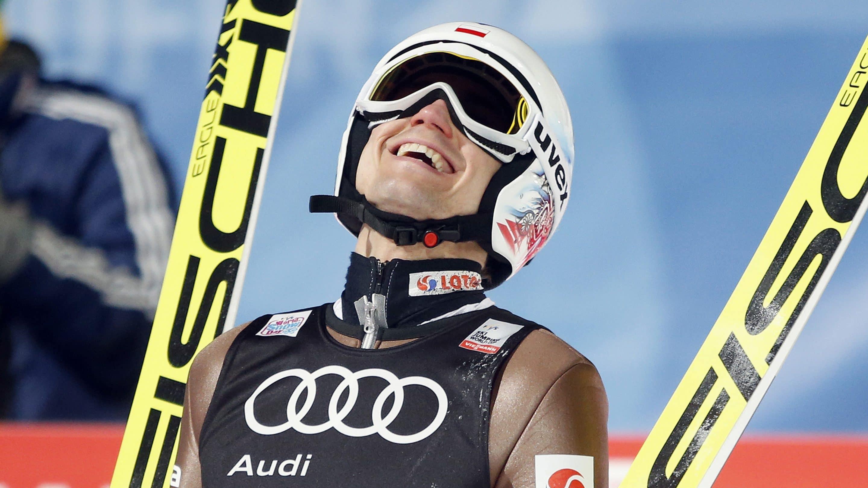 Kamil Stoch bei der Vierschanzentournee
