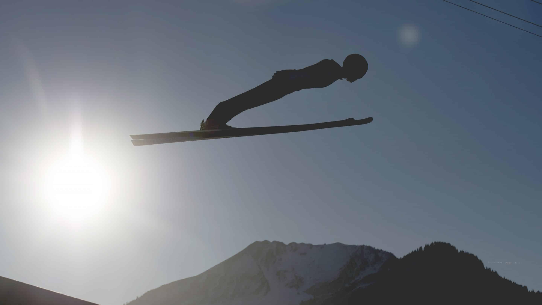 Skispringer bei der Vierschanzentournee