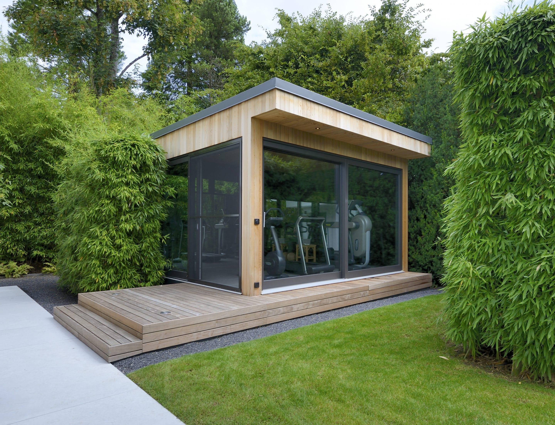 Das Workout-Gartenhaus von Blockhausbau Hummel