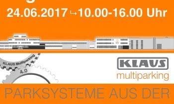 KLAUS Multiparking 4.0 – Das Fest – Tag der offenen Tür am 24. Juni: Parksysteme aus der SmartFactory 4.0