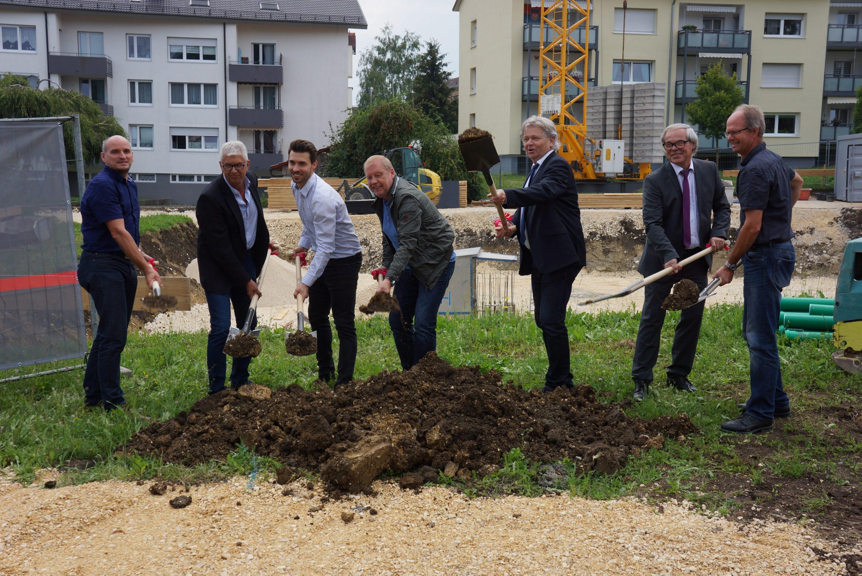 Neuer Wohnraum für Jung und Alt in Nattheim – Spatenstich: Kreisbaugesellschaft Heidenheim investiert  fast 2,8 Millionen Euro und baut 14 neue Mietwohnungen