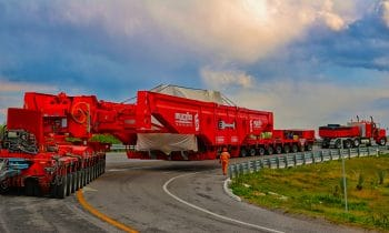 13 Gasturbinentransporte über 1.100 Kilometer quer durch Mexiko: Transportes Muciño kombiniert »Faktor 5« und »ADDRIVE« von Goldhofer