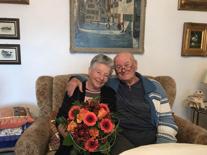 Seit 60 Jahren glücklich verheiratet – Kreisbau gratuliert ihren Mietern und ehemaligen Mitarbeitern Helga und Roland Fahnauer zur Diamantenen Hochzeit