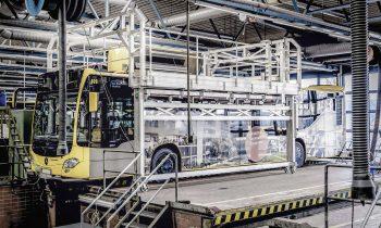 Effiziente Produktion und Wartung von Bussen  – Günzburger Steigtechnik präsentiert auf der Bus2Bus 2019 in Berlin innovative Steigtechnikanlagen für die Busindustrie