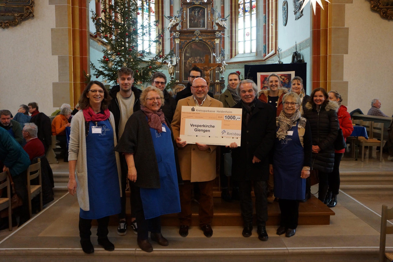 Kreisbau unterstützt Giengener Vesperkirche – Wohnungsunternehmen spendet 1.000 Euro