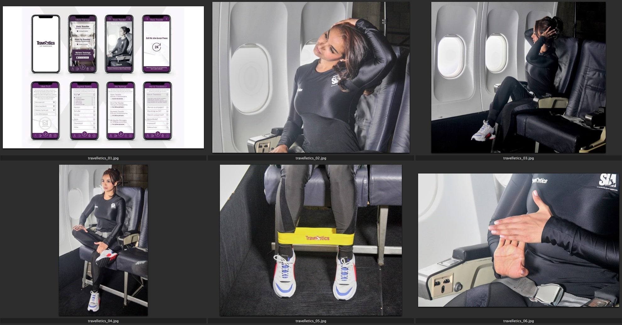 Sports above the clouds: Travelletics: The first international sports app for the airplane which helps you to prevent thrombosis and back pain