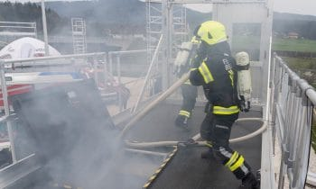 1. Auracher Rettungstag:  Top vorbereitet für den Ernstfall –  Innovations- und Trainingstag der Günzburger Steigtechnik kommt bei Fachbesuchern hervorragend an