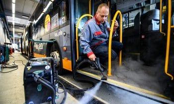 Mit voller Dampfpower gegen Keime und Viren im Omnibus